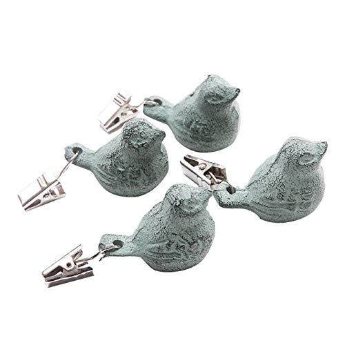 4 STÜCKE Eisen Vogel Tischdeckenbeschwerer Tischtuchbeschwerer Tischdeckenklammer Tischdeckenhalter Tischdeckengewichte Draußen Für Schwere Garten Party Picknick Tischdecken