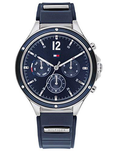 Tommy Hilfiger Reloj Analógico para Mujer de Cuarzo con Correa en Silicona 01782281