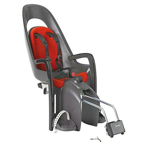 Fahrrad Kindersitz Hamax Caress grau/dkl.grau/rot, Befestig. Rahmenrohr