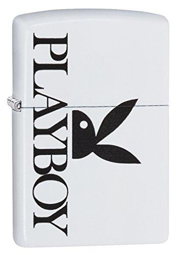 Zippo Unisex\'s Playboy Peekin Bunny Winddichtes Taschenfeuerzeug, Einheitsgröße, Weiß