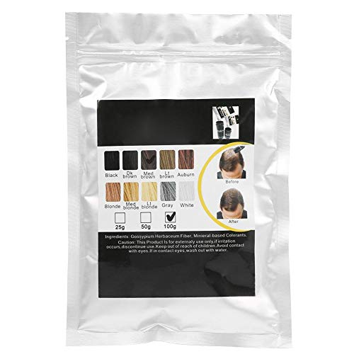 9 colori Fibre per l'edilizia dei capelli Calvizie Correttore Ispessimento Fibre per l'edilizia dei capelli Polvere per uomo e donna calvi e dai capelli sottili(Marrone medio)