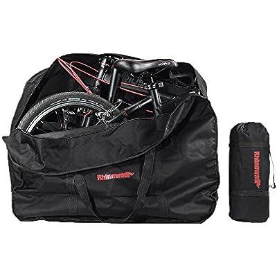 MORUDO - Funda plegable para bicicleta de 14/16/20 pulgadas, Negro 16 pulgadas.