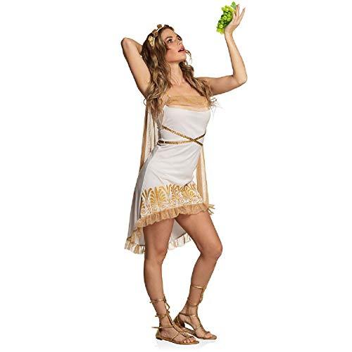 Boland 83737 - Erwachsenenkostüm Griechische Göttin Athena, Größe 44/46, Farbe: Weiß und Gold, Kostümset für Damen bestehend aus: Tiara und Kleid mit Umhang, perfekt für Mottoparty und Karneval
