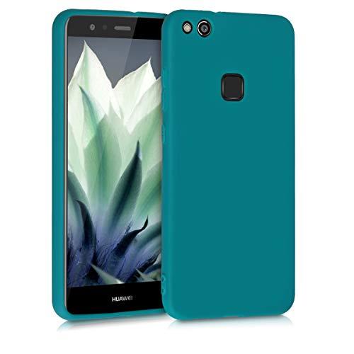 kwmobile Carcasa para Huawei P10 Lite - Funda para móvil en TPU Silicona - Protector Trasero en petróleo Mate