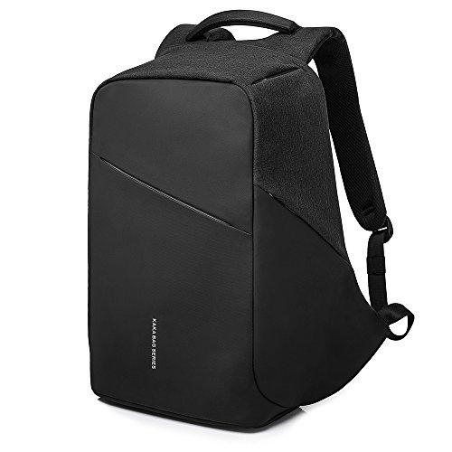 MUFUBU Presents Kaka Stylish Anti Theft Laptop Backpack with USB Charging Port and Security Pockets - Black