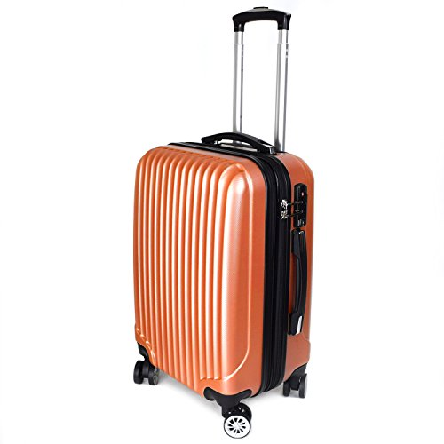 [BAGING] バギング YKKファスナー使用 スーツケース キャリーケース 8輪キャスター TSAロック 拡張式 LB001 (Sサイズ(1-3泊用 40/50L), インカゴールド)