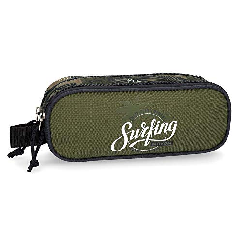 Movom Relax Trousse double compartiment Vert 23x9x7 cms Polyester