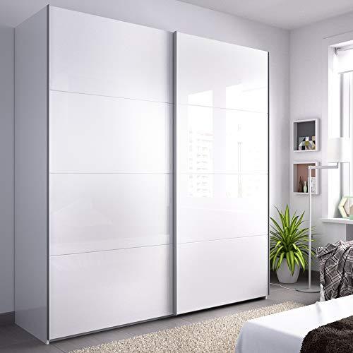 HOMEKIT Armarios 2 Puertas correderas, Blanco Brillo, 180x204x65cm