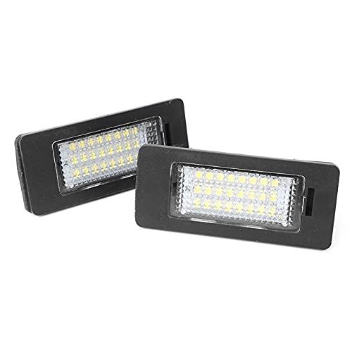 WUYANZI 2Pcs White LED Car License Number Plate Light Lamp Fit ForB/MW 1 3 5 Series M5 X5 X6 E82 E88 E90 E91 E92 E93 E39 E60 F10
