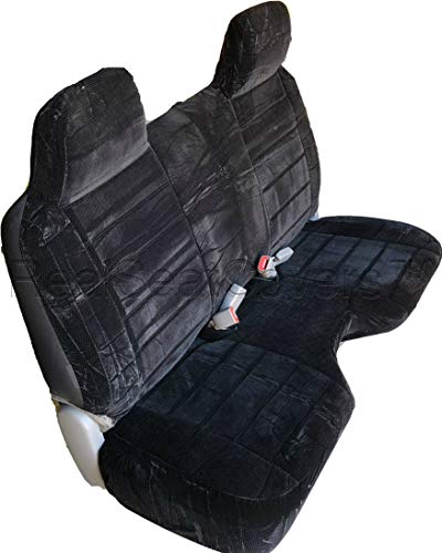 RealSeatCovers 3 Layer Seat Cover for 1995 Toyota Tacoma Regular Cab Bench A27 Molded Headrest Large Notched Cushion Belt Cutout Exact Fit (Black)