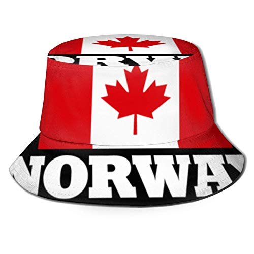 AJOR Sombrero unisex de bandera de Noruega con bandera de Canadá, sombrero de pescador, gorra de sol al aire libre