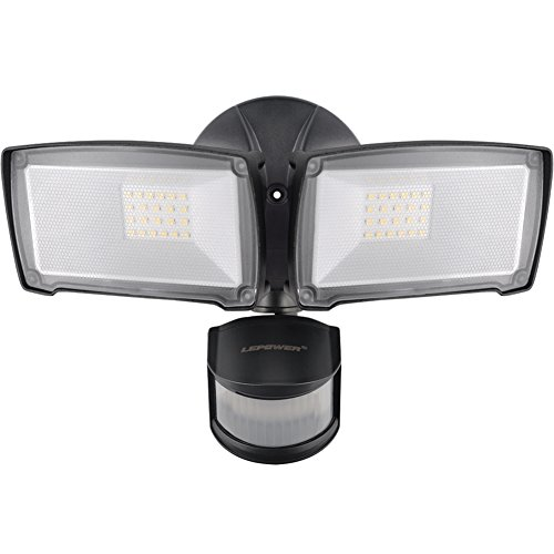 LEPOWER 3000LM LED Security Lights, 28W Outdoor Motion Sensor Light, 5500K, IP65 Waterproof Outdoor...