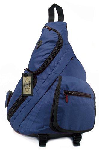 GFM® Herren Sling Rucksack für den gelegentlichen Gebrauch, Radfahren, Fahrrad, Fitnessstudio (Blau (070-NL))