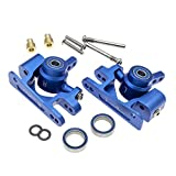 RC Alloy Caster Block&Steering Blocks for Traxxas 1/10 4X4 Slash, Stampede, Rustler 4WD -Replaces Part 6837 6832