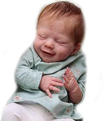 XYBHD Realista Reborn Baby Doll nias nios Silicona Suave recin Nacido muecas de crianza Hecho a Mano Realista 55Cm bebs nios Juguetes nio