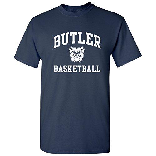UGP Campus Apparel AS1096 - Butler Bulldogs Arch Logo Basketball T Shirt - Large - Navy