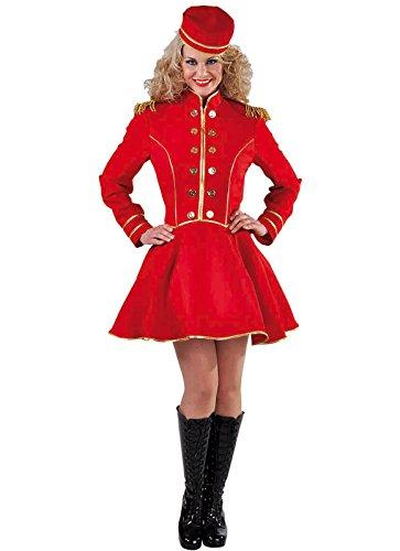Damen-Kostüm Platzanweiserin / Concierge / Hotelpagin Gr. XXL, rot