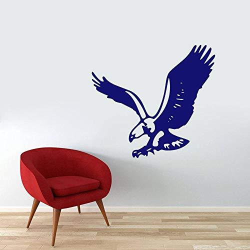 Calcomanía de pared de águila voladora, Mural de animales con agujeros para hombre, habitación de niños, decoración del hogar, arte de pared, calcomanía de vinilo para pared