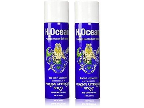 H2Ocean Piercing Aftercare Spray, 4 Ounce Set of 2