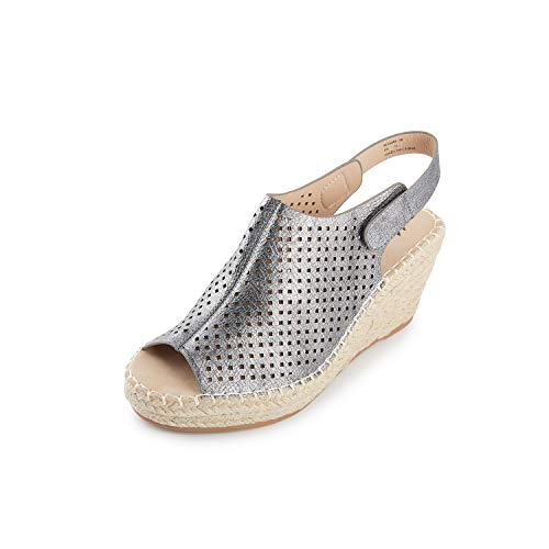 Kentti Uithollen Slingback Peep Toe Platform Sleehak Sandalen Espadrilles Dames
