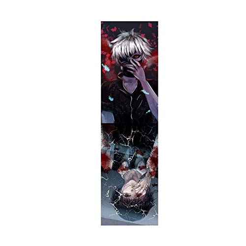 Griptape 33 Zoll / 48 Zoll Short Board Longboard Skateboard Anime Tokyo Ghoul Kaneki Ken Spiegel Grip Tape DR2020-11-505 (Farbe : Back, Size : 48 inch)