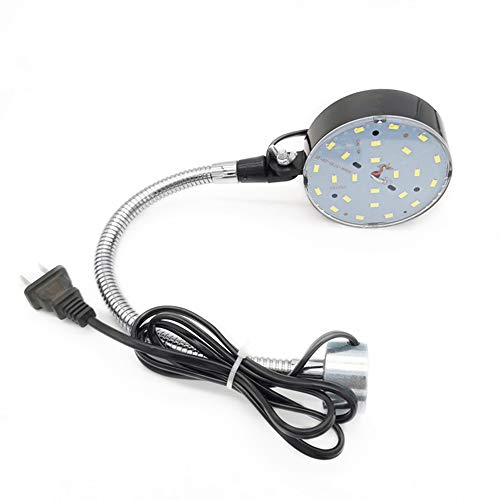 YSSMAO Luz de máquina de Coser de 440 mm de Longitud, luz LED magnética de 220V con 10 vatios 24 Leds, luz de Trabajo Flexible de Cuello de Cisne para el Banco de Trabajo