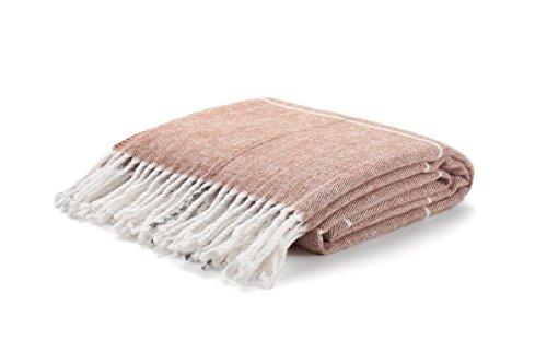 Arus, Kuscheldecke Wohndecke Tagesdecke Couch Überwurf Plaid Reisedecke, Terra Cotta, 100% Polyacryl, ca. 150x200 cm, 260 gr/cm²