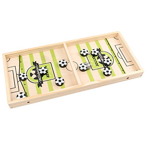 Sunshine smile Katapult Brettspiel,Brettspiel Hockey,Bouncing Brettspiel,Tisch Hockey Brettspiel,Fast Sling Puck Game,Puck Spiel Holz,Katapult Schach,Bouncing Chess Hockey Game