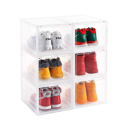 ADAHX Caja de Zapatos de Almacenamiento - Zapato de Almacenamiento de contenedores de acrílico Zapatilla de Deporte de la Caja de Zapatos Bin apilable Claro Organizador Hombres Mujeres 3 Pack