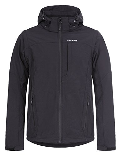 ICEPEAK Herren Softshell Jacket Leonidas Jacke, schwarz (990), XL