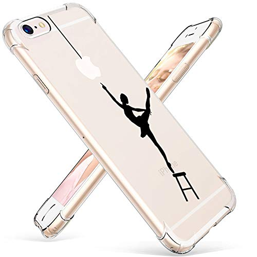 "Cover iPhone 6,Cover iPhone 6S,Caroki Creativo Custodia per iPhone 6/iPhone 6S in Morbida TPU [Ultra Leggere e Chiaro] Silicone Ultra Sottile Custodia per iPhone6/6S 4.7""-Ballerina"
