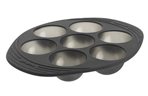 MASTRAD - Moule 7 Demi-Sphères - 100% Silicone Premium - Anti-Adhésif - Maintien Parfait - Gris Fumé