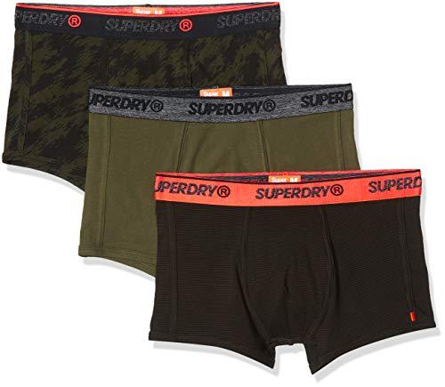 Superdry Herren OL Sport Trunk Triple Pack Badehose, Grün (Khaki Multipack 1SD), X-Large