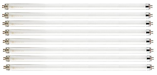 Pack of 8 F21T5/830 21 watt 34' Straight F21 T5 Mini Bi-Pin (G5) Base, 3,000K Warm White Octron Fluorescent Tube Light Bulb