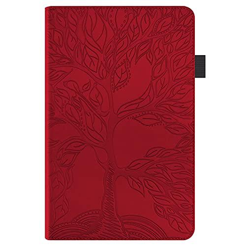 Jajacase Hülle für Galaxy Tab a 10.1 Zoll(SM-T510/T515) - PU Leder,Kratzfeste Schutzhülle Cover Hülle Tasche mit Standfunktion,rot