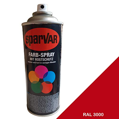 SparVar 6099941 Lackspray RAL 3000 Feuerrot matt, 400 ml