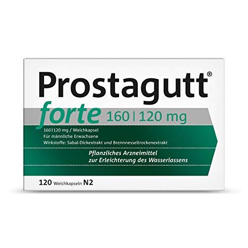 Prostagutt® forte 160/120 mg Weichkapseln – Pflanzliches Arzneimittel zur Reduktion des Harndrangs bei gutartiger Prostatavergrößerung – 60 Filmtabletten