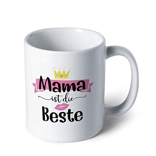 Sweese Tasse mit Motivdruck Schwarz, 320 ml, Kaffeebecher aus Porzellan, Geschenk