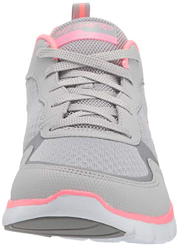 Skechers Flex Appeal 3.0-go Forward, Zapatillas Mujer, Gris, 38.5 EU