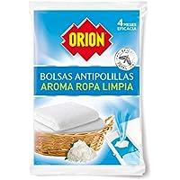 Orion - Bolsas Antipolillas Aroma Ropa Limpia - Bolsa de 20 Unidades