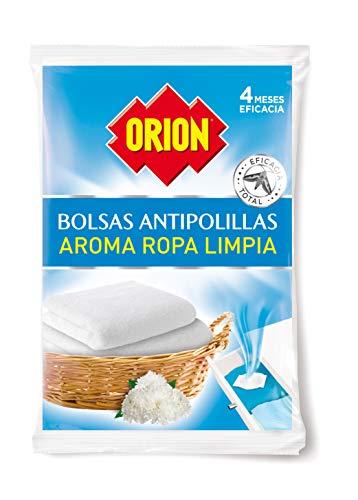 Orion - Bolsas Antipolillas Sin Naftalina con Aroma a Ropa Limpia - Bolsa de 20 Unidades