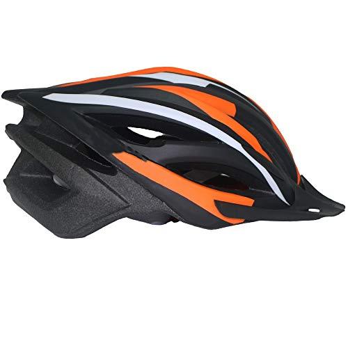 XinMeiMaoYi Casco de ciclismo para deportes al aire libre, casco integrado para bicicleta de montaña, para hombre y mujer, transpirable (color: naranja)
