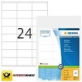 HERMA 4414 Adressaufkleber DIN A4 (70 x 36 mm, 500 Blatt, Papier, matt) selbstklebend, bedruckbar,...