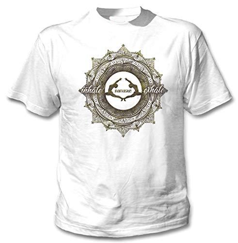 teesquare1st Men's Yoga Namaste Exhale inxale White T-Shirt Size Medium