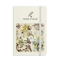 花の植物のカラフルなアートの穀物 ノートブッククラシックジャーナル日記A 5を書く