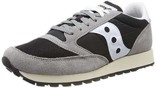 Saucony Jazz Original Vintage, Sneaker Uomo, Grigio (Grey/Black/White 37), 43 EU