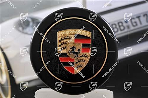 1 copriruota per Porsche 911 1965 – 1989, nero, con stemma colorato, Hub cap
