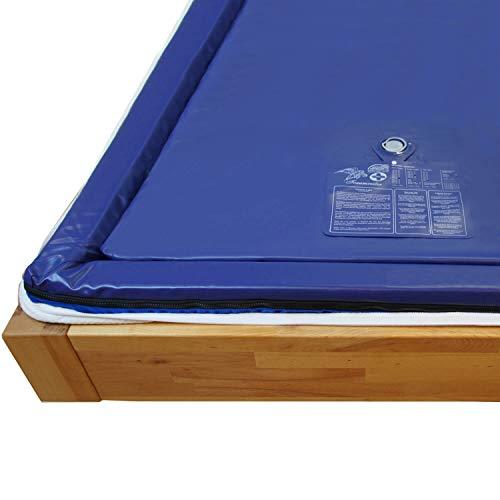 Traumreiter Wassermatratze Dual 90x200 für 180x200 cm Softside Wasserbetten MESAMOLL 2 Wasserkern Wasserbett-Matratze (voll (0 Sekunden))