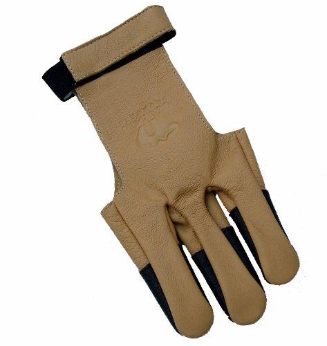 Bearpaw Neue 100% Soft-Ziegenleder Bogenschiesshandschuh Recurve Compound Bogen (groß)