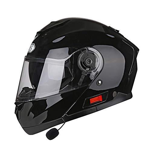 Stella Fella Casco de motocicleta para hombre, casco de cara abierta, doble lente integrada, locomotora de intercomunicador, personalidad, cuatro estaciones (tamaño: XXL)
